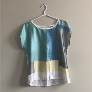 Colour-block blouse